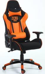 Scaun Gaming Inaza Dreadnought Zero Series Negru-portocaliu Bonus Casti Gaming Iluminate Somic