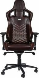 Scaun Gaming Noblechairs Epic Real Leather Maro-Bej Scaune Gaming