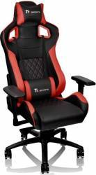 Scaun Gaming Tt Esports By Thermaltake Gt Fit Negru-rosu Bonus Casti Gaming Iluminate Somic