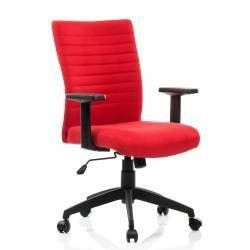 Scaun birou ergonomic LIMBO suport lombar stofa Rosu QMOBILI Scaune Birou
