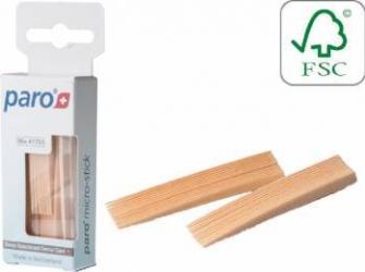 Scobitori medicinale din lemn Paro micro-stick super subtiri 96 buc