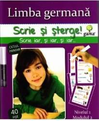 Scrie si sterge - Limba germana nivelul 1 modulul 2
