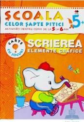 Scrierea. Elemente grafice 5-6 ani - Carte cu jocuri
