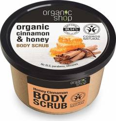 Scrub de corp Organic Shop delicios cu miere si scortisoara Honey Cinnamon, 250 ml Lotiuni, Spray-uri, Creme