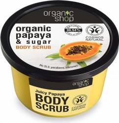 Scrub de corp Organic Shop delicios cu zahar si papaya Juicy Papaya, 250 ml Lotiuni, Spray-uri, Creme