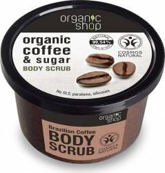 Scrub de corp Organic Shop delicios cu zahar si cafea Brazilian Coffee, 250 ml Lotiuni, Spray-uri, Creme