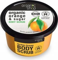 Scrub de corp Organic Shop delicios cu zahar si portocala Sicilian Orange, 250 ml Lotiuni, Spray-uri, Creme