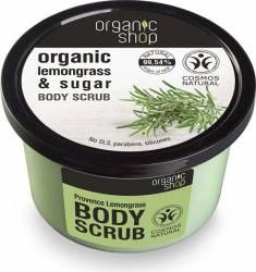 Scrub de corp Organic Shop delicios cu zahar si lemongrass Provence Lemongrass, 250 m Lotiuni, Spray-uri, Creme