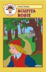 Scufita Rosie - Fratii Grimm carte De Colorat