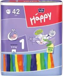 Scutece HAPPY 1 Newborn 2-5 Kg 42 BUC