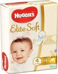 Scutece Huggies Elite Soft 4, 8-14 kg, 19 buc Scutece si servetele