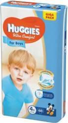 Scutece Huggies Ultra Confort Giga Pack 4+ Boy 10-16 kg 68 buc scutece si servetele