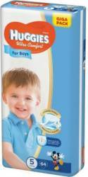 Scutece Huggies Ultra Confort Giga Pack (5), Boy, 12-22 kg, 64 buc  Scutece si servetele