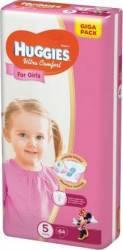Scutece Huggies Ultra Confort Giga Pack 5 Girl 12-22 kg 64 buc Scutece si servetele