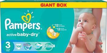 Scutece Pampers Active Baby 3 Giant Pack 108 buc Scutece si servetele