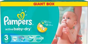 Scutece Pampers Active Baby 3 Midi Giant Pack Plus 112 buc Scutece si servetele