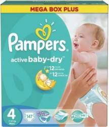 Scutece Pampers Active Baby 4 Mega Box Pack 147 buc Scutece si servetele