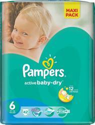 Scutece Pampers Active Baby 6 ExtraLarge Value Pack 42 buc