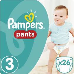 Scutece Pampers Active Baby Pants 3 Carry Pack 26 bucati Scutece si servetele