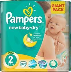 Scutece PAMPERS GIANT PACK 2 NEW BORN Pentru Copii Scutece si servetele