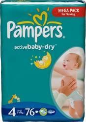 Scutece PAMPERS GIANT PACK 4 ACTIVE BABY Pentru Copii Scutece si servetele