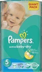 Scutece PAMPERS GIANT PACK 5 ACTIVE BABY Pentru Copii Scutece si servetele
