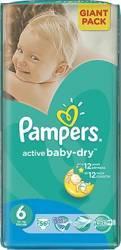 Scutece PAMPERS GIANT PACK 6 ACTIVE BABY Pentru Copii Scutece si servetele