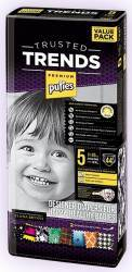 Scutece Pufies Trusted Trends Junior Value Pack 5 - 44 buc