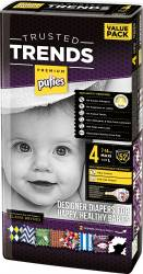 Scutece Pufies Trusted Trends Maxi Value Pack 4 - 52 buc