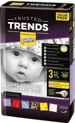 Scutece Pufies Trusted Trends Midi Value Pack 3 - 60 buc