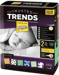 Scutece Pufies Trusted Trends Mini Value Pack 2 - 72 buc