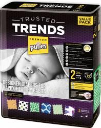 Scutece Pufies Trusted Trends Mini Value Pack 2 - 72 buc