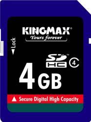 Card de Memorie Kingmax SDHC 4GB Class 4