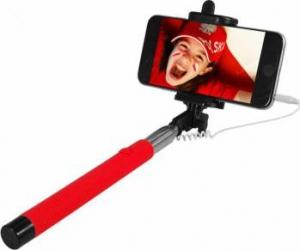 Selfie Stick Art KS10A cu fir Rosu Gimbal, Selfie Stick si lentile telefon
