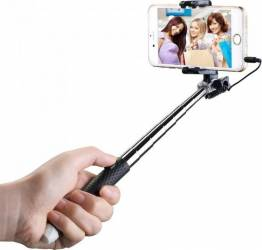 Selfie stick Mpow Mini Negru Gimbal, Selfie Stick si lentile telefon