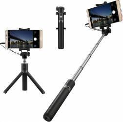 Selfie Stick Tripod cu fir Huawei AF 14 - Negru Selfie Stick si Accesorii Camera
