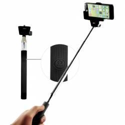 Selfie stick Z07-5 extensibil 100cm cu suport pentru telefon si telecomanda bluetooth integrata pe maner Selfie Stick si Accesorii Camera