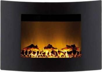 Semineu electric Ardes cu efect de flacara 1500 W montabil pe perete Aparate de incalzire