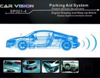Senzori parcare Car Vision 4 senzori negru mat - pot fi vopsiti Alarme auto si Senzori de parcare