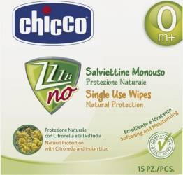 Servetele umede anti-tantari Chicco Zanza-no 15 bucati
