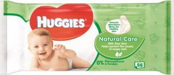 Servetele umede Huggies Natural Care 56 buc Scutece si servetele