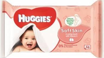Servetele umede Huggies Soft Skin 56 buc Scutece si servetele