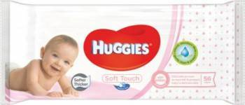 Servetele umede Huggies Soft Touch, 56 buc Scutece si servetele