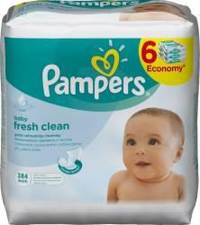 Servetele umede Pampers Baby Fresh 6 x 64 buc Scutece si servetele