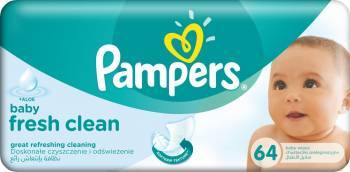 Servetele umede Pampers Baby Fresh 64 buc Scutece si servetele