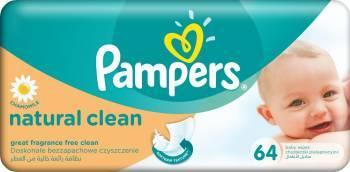 Servetele umede Pampers Natural Clean Single 64 buc Scutece si servetele