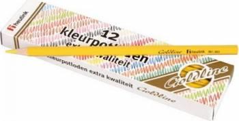 Set 12 creioane colorate Goldline 3.7 mm Galben deschis- Heutink Rechizite