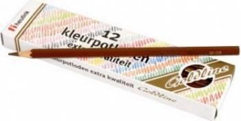 Set 12 creioane colorate Goldline 3.7 mm Maro inchis - Heutink Rechizite