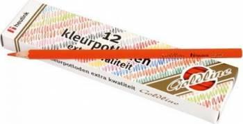 Set 12 creioane colorate Goldline 3.7 mm Rosu deschis - Heutink Rechizite