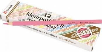 Set 12 creioane colorate Goldline 3.7 mm Roz - Heutink Rechizite
